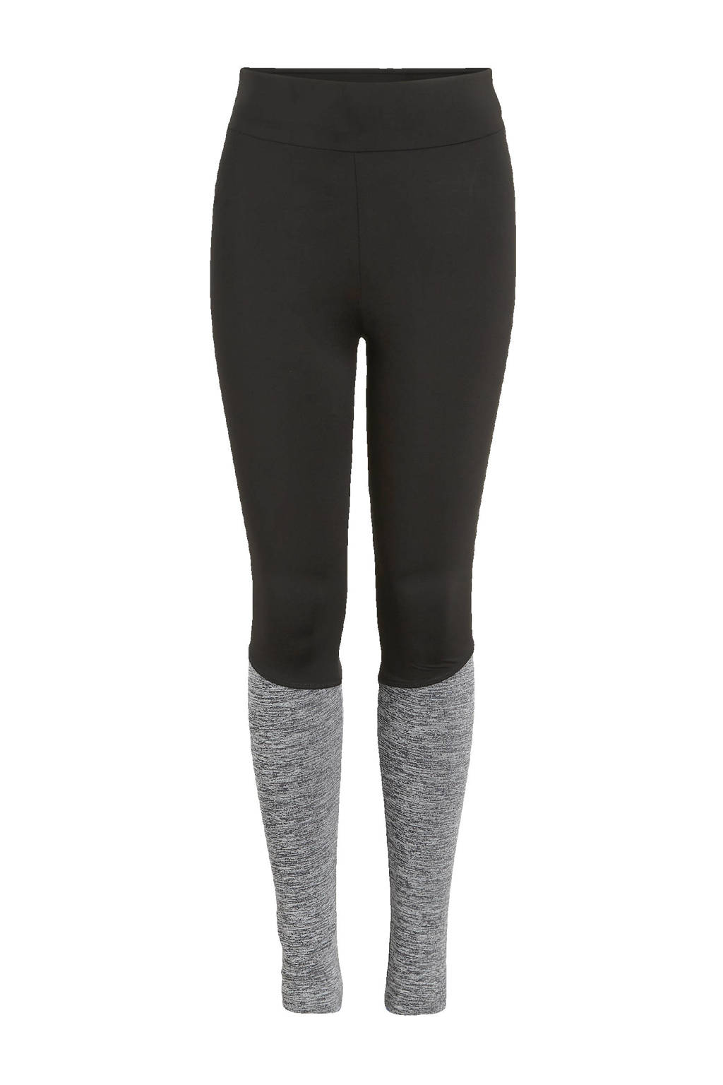NAME IT KIDS legging Tuvla zwart/grijs melange, Zwart/grijs melange