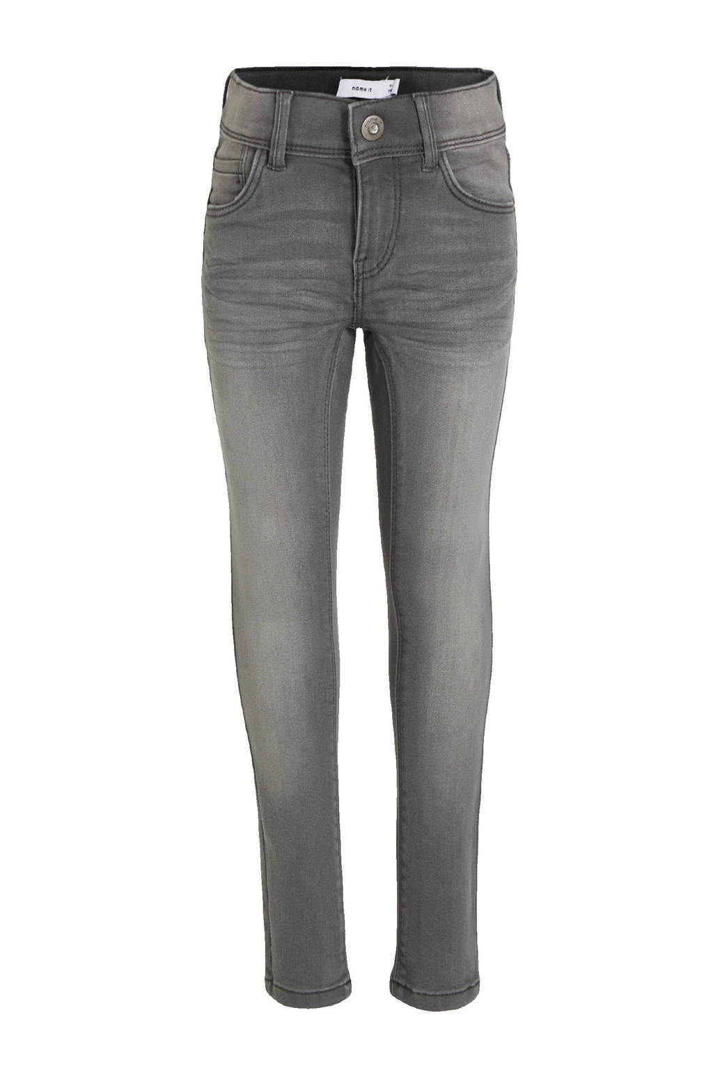NAME IT KIDS skinny jeans NKFPOLLY grijs stonewashed, Grijs stonewashed