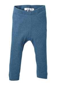 NAME IT BABY baby legging Kabille met biologisch katoen blauw, Blauw
