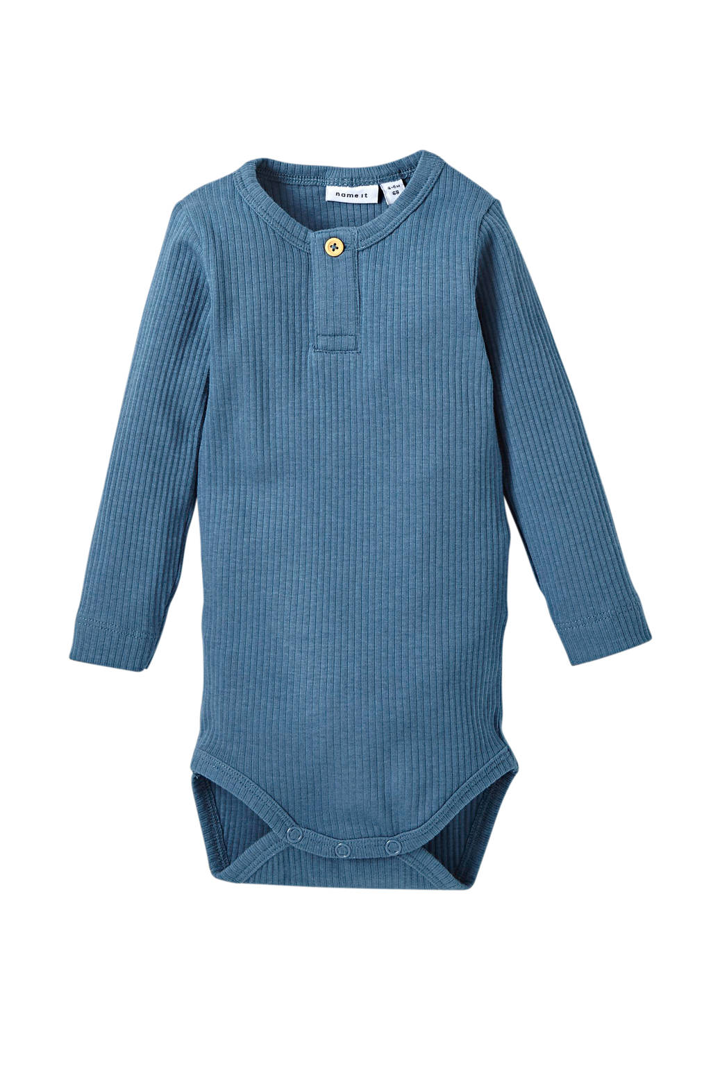NAME IT BABY newborn baby romper Kabille blauw, Blauw
