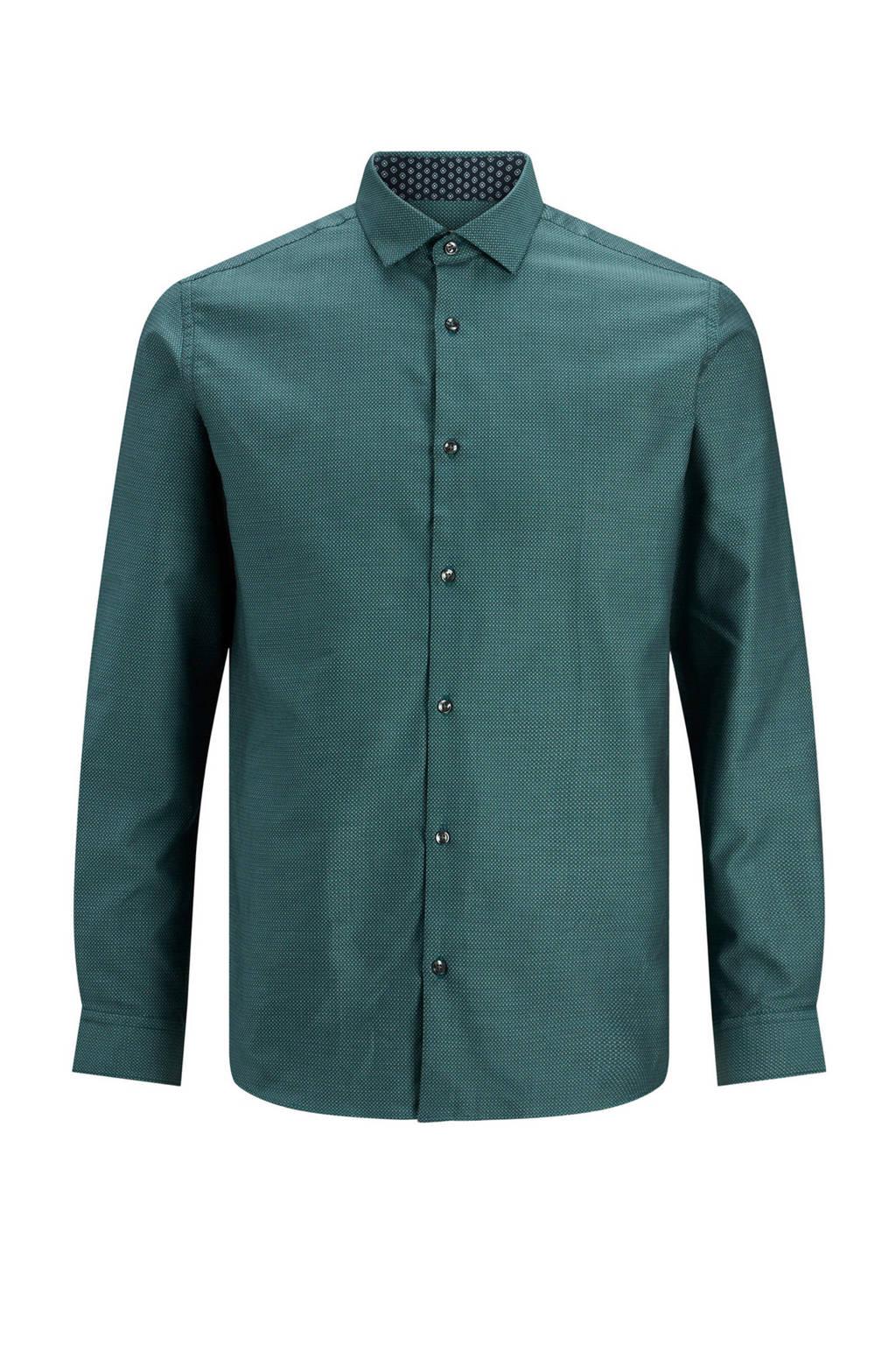 JACK & JONES PREMIUM gemêleerd slim fit overhemd groen, Groen