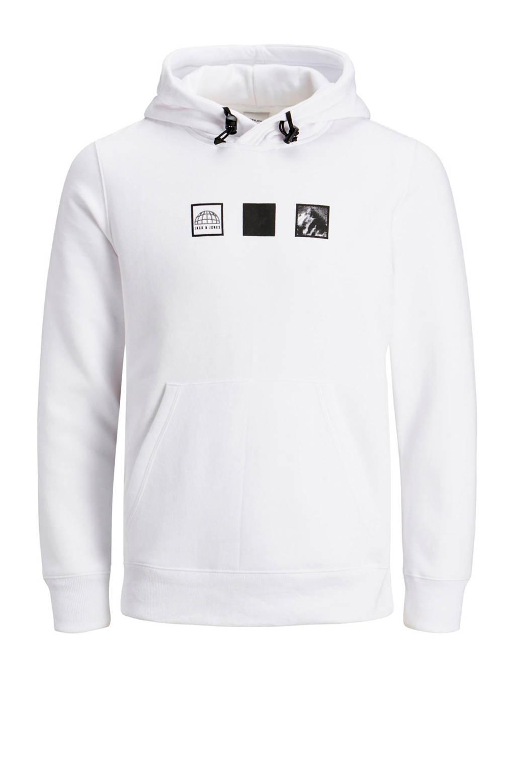 JACK & JONES CORE hoodie met printopdruk wit, Wit