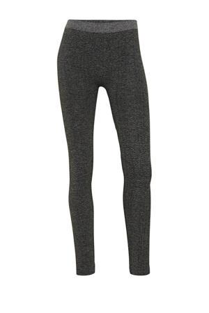 legging met visgraad dessin grijs