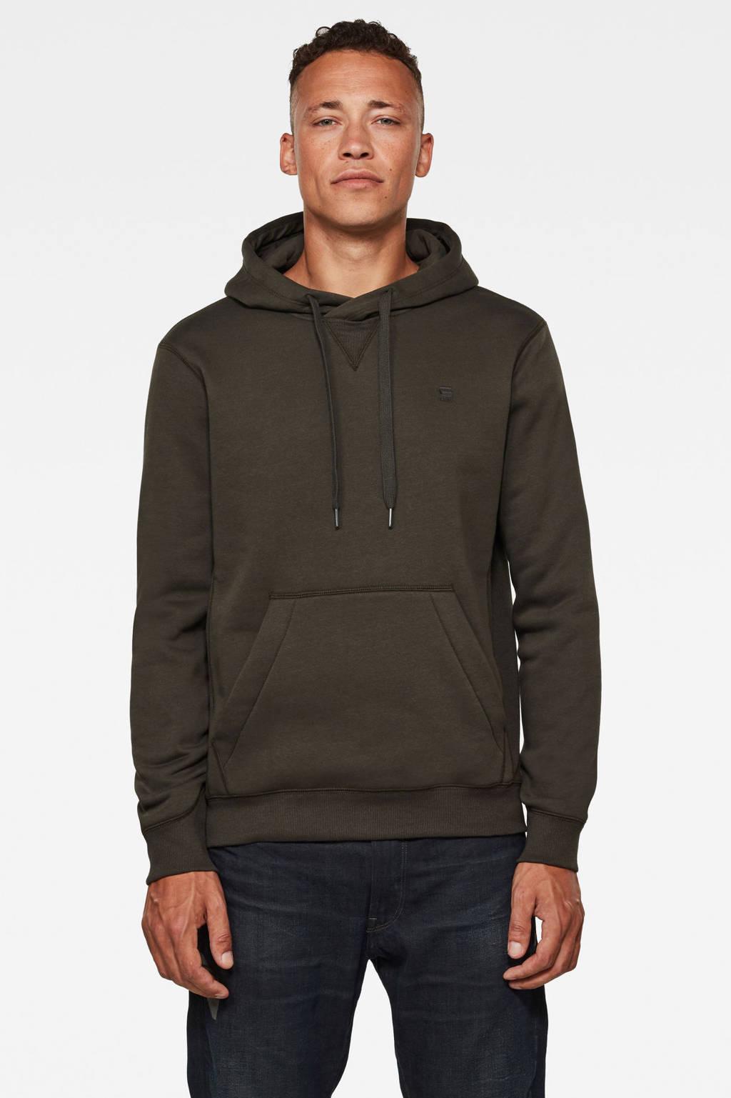 G-Star RAW hoodie grijsgroen, Grijsgroen