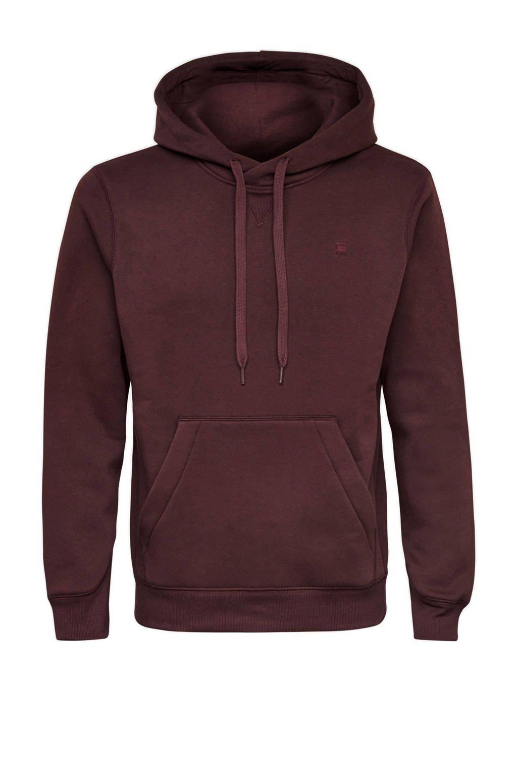 G-Star RAW hoodie donkerrood, Donkerrood