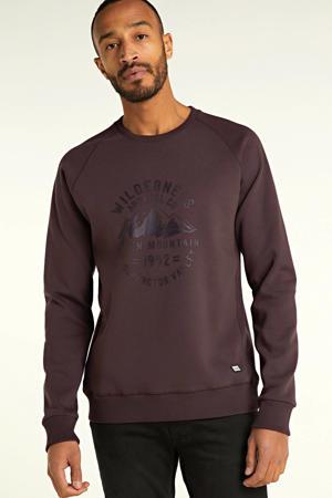 sweater Frankly met printopdruk antraciet