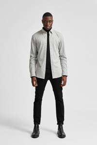 SELECTED HOMME slim fit overhemd SLHOLIVER lichtgrijs, Lichtgrijs