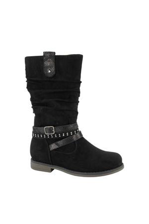 laarzen met sierbandjes zwart