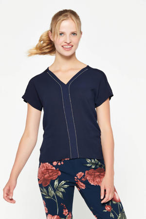 T-shirt met glitters marine