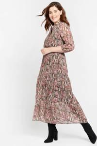 LOLALIZA maxi jurk met all over print roze, Roze