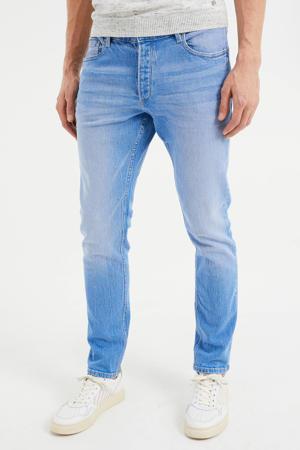 slim fit jeans bright blue denim
