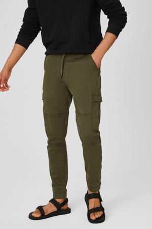 regular fit joggingbroek olijfgroen
