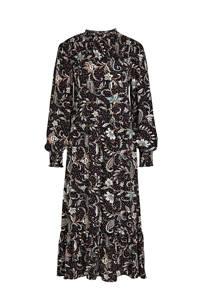 C&A Yessica maxi jurk met all over print zwart, Zwart