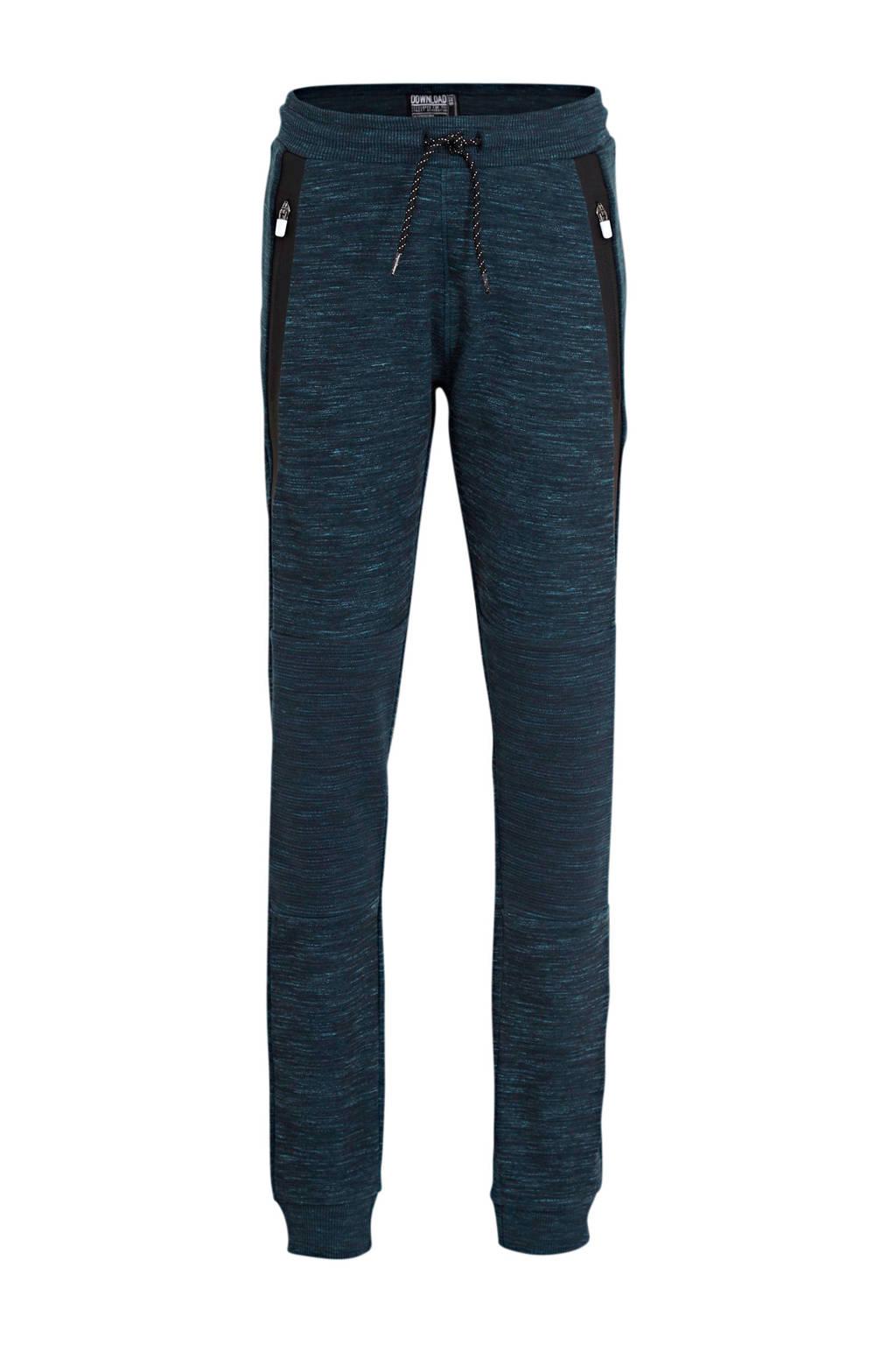C&A gemêleerde broek donkerblauw, Donkerblauw
