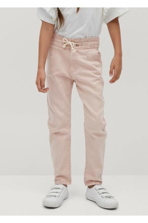 high waist mom broek roze
