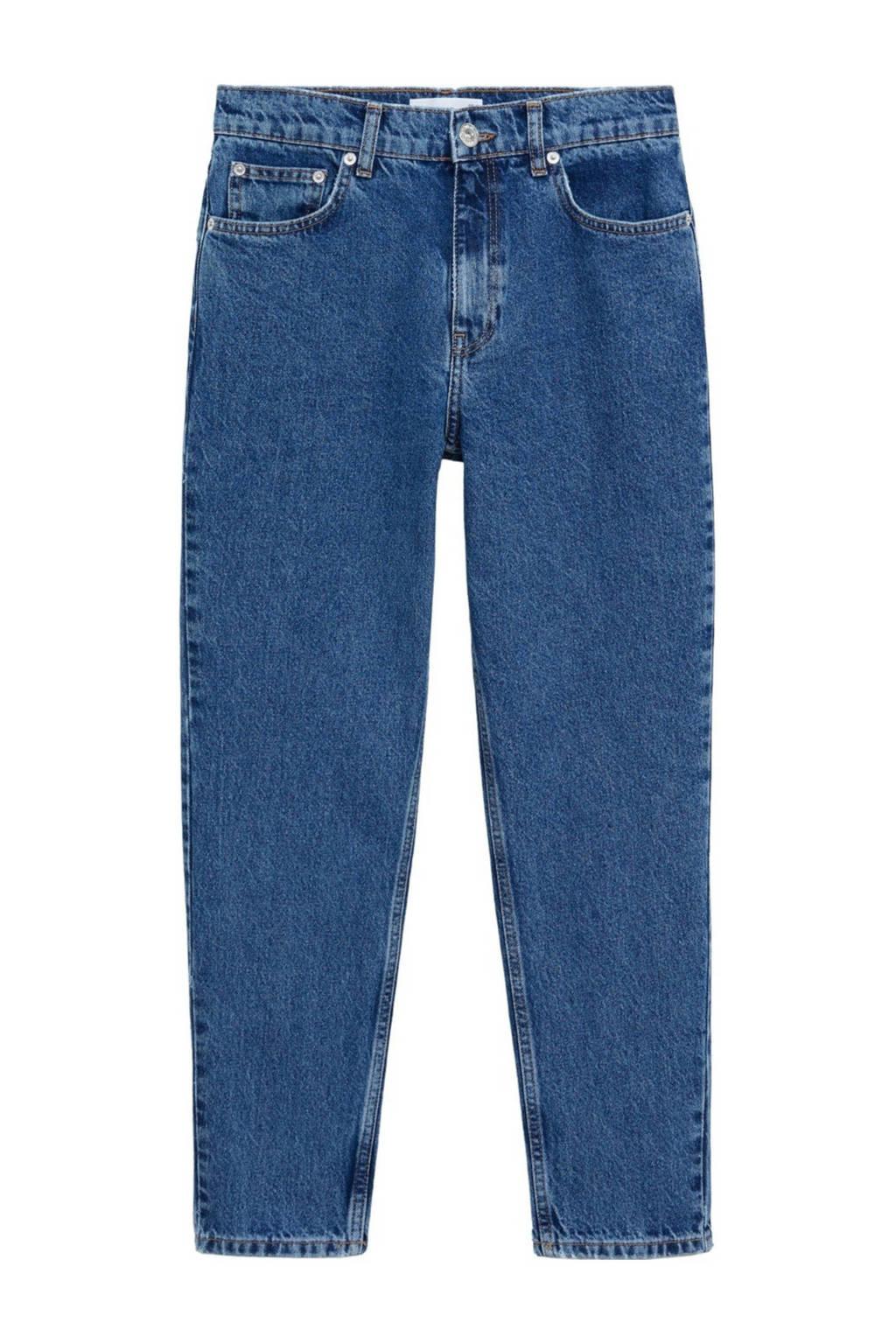 Mango high waist mom jeans blauw, Blauw