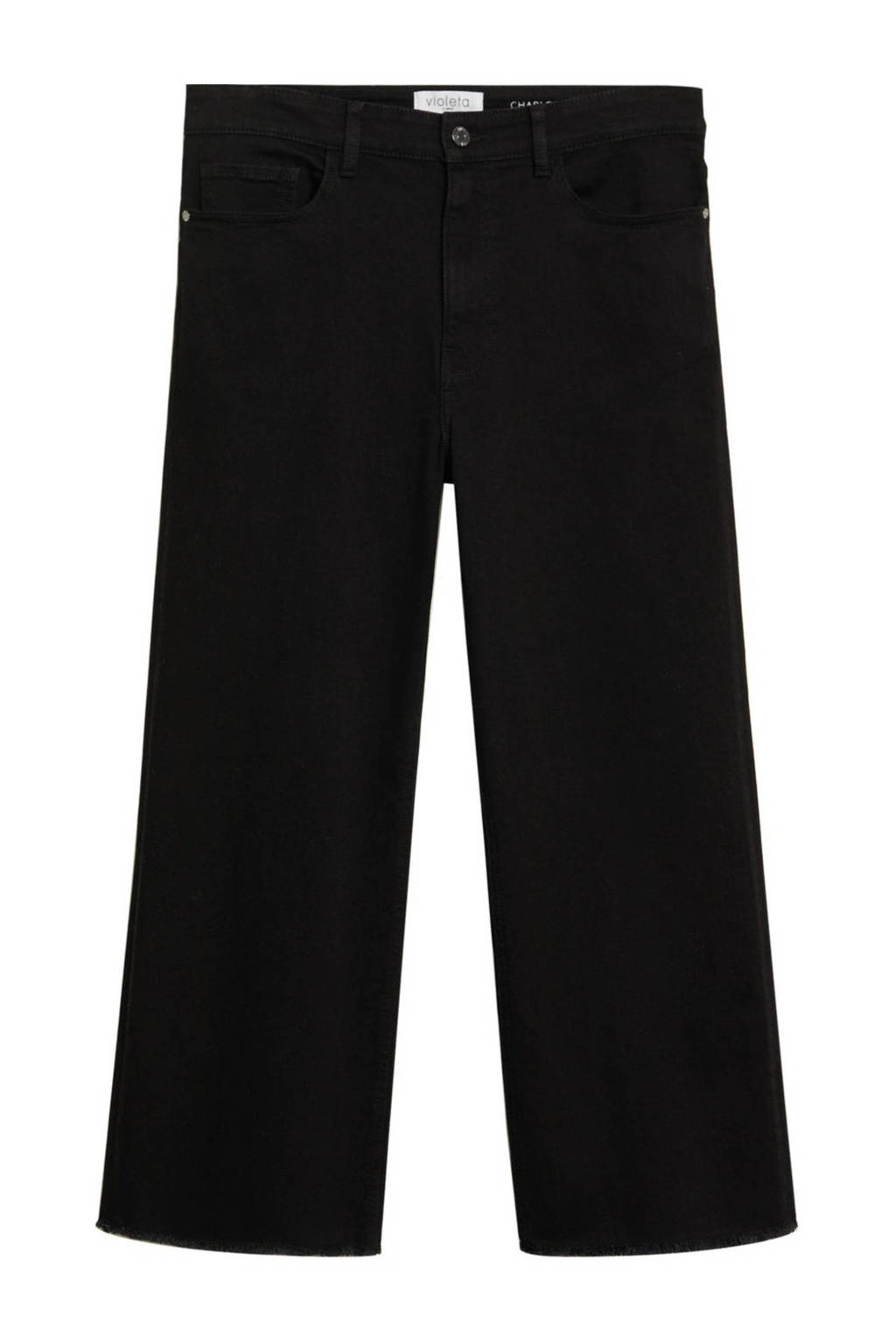 Violeta by Mango bootcut jeans zwart/donkergrijs, Zwart/donkergrijs