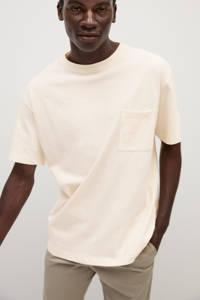 Mango Man T-shirt ecru, Ecru