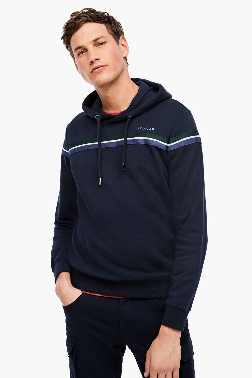 s.Oliver hoodie met printopdruk marine, Marine