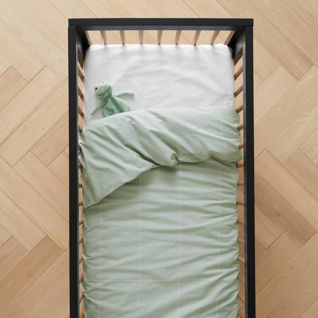 wehkamp home dekbedovertrek ledikant, Lichtgroen, Baby (100 cm breed)