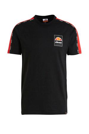 T-shirt zwart/rood