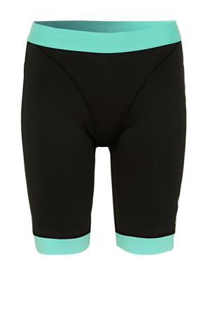cycling short zwart/aquablauw