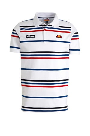 polo wit/blauw/rood