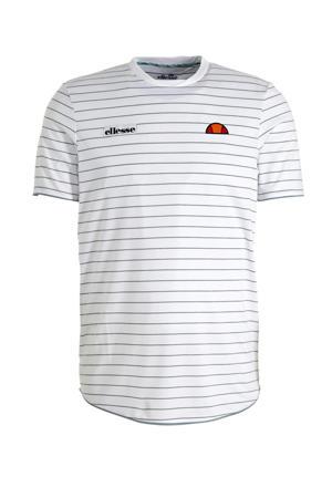 T-shirt wit/grijs