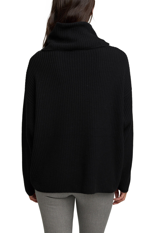 ESPRIT Women Casual trui met rolkraag en kasjmier zwart