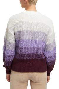 edc Women gebreide trui paars/donkerrood/wit, Paars/donkerrood/wit