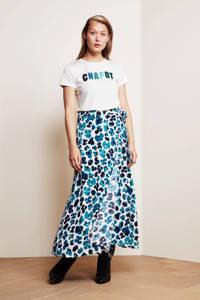 Fabienne Chapot rok Bobo met bloemenprint blauw, Blauw