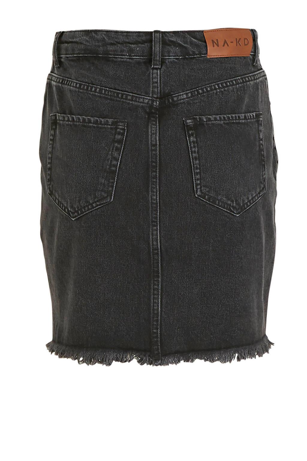 NA-KD spijkerrok, Zwart