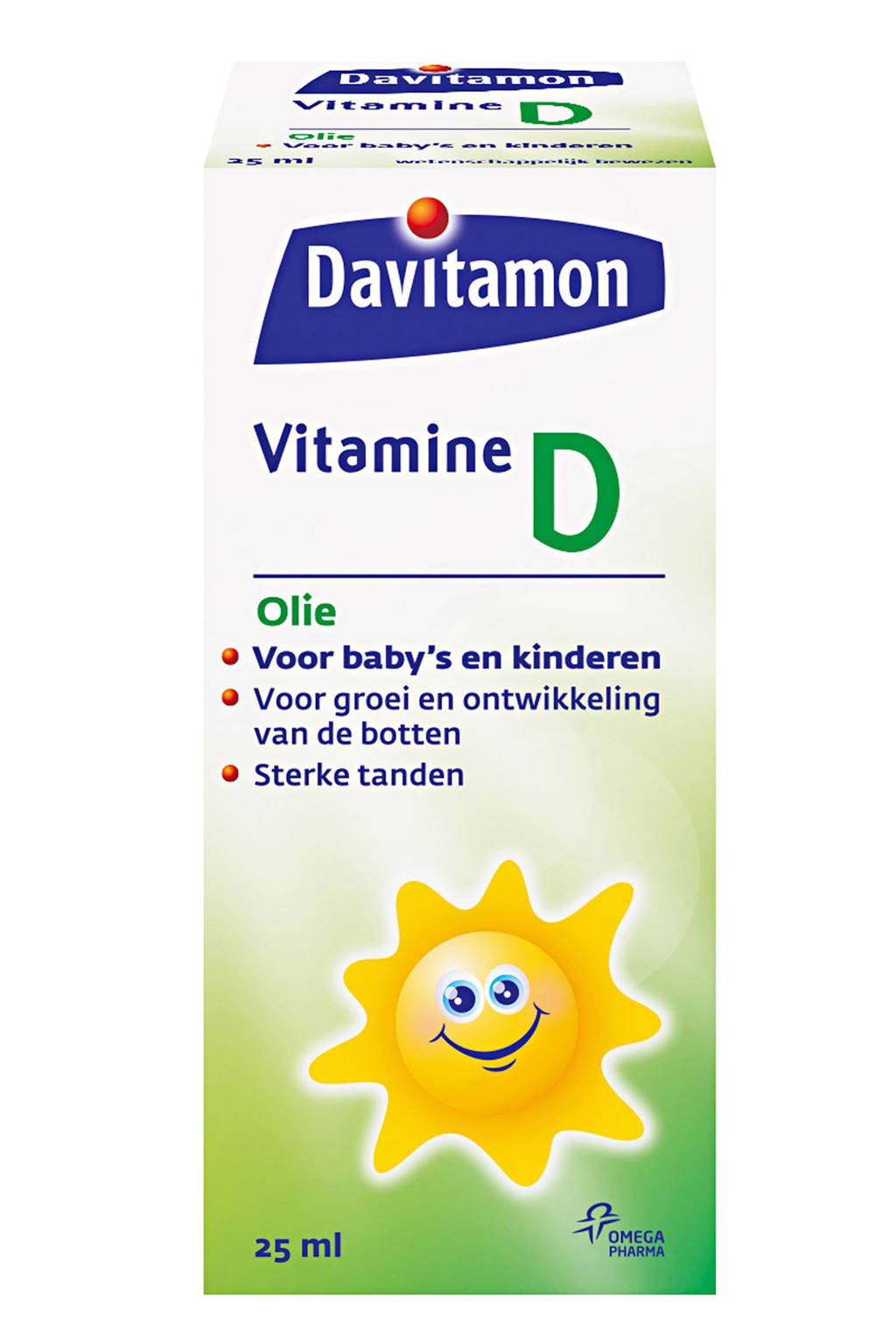 Davitamon vitamine D olie 25 ml, Olie
