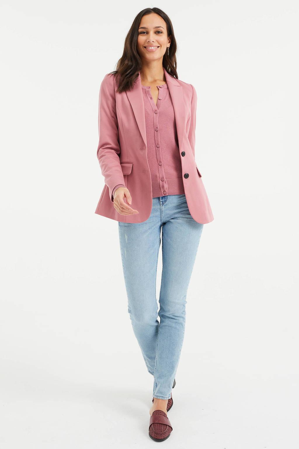 WE Fashion blazer blauw, Rosé