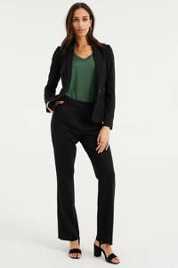 WE Fashion flared broek zwart, Zwart