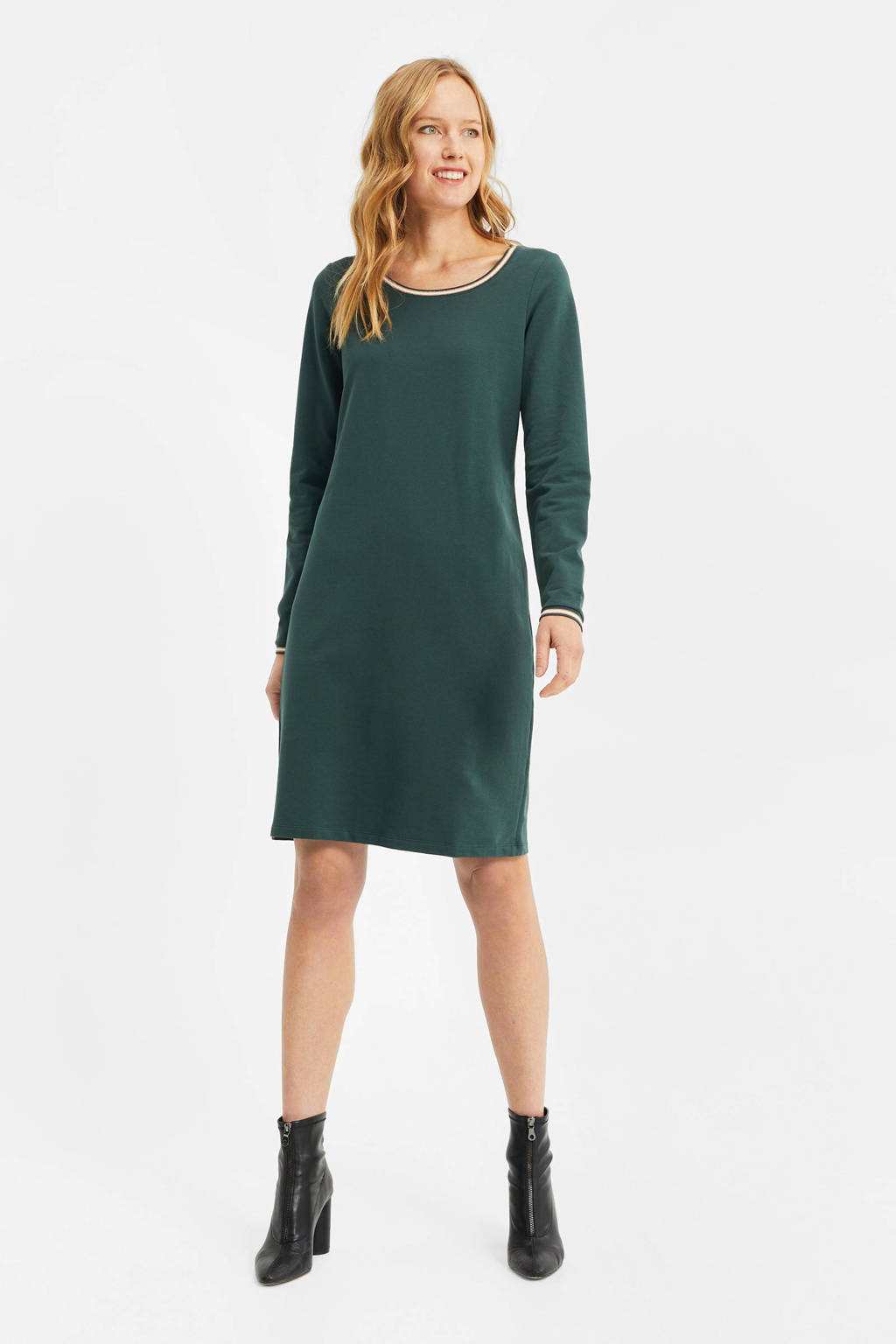 WE Fashion jurk dark green, Dark Green