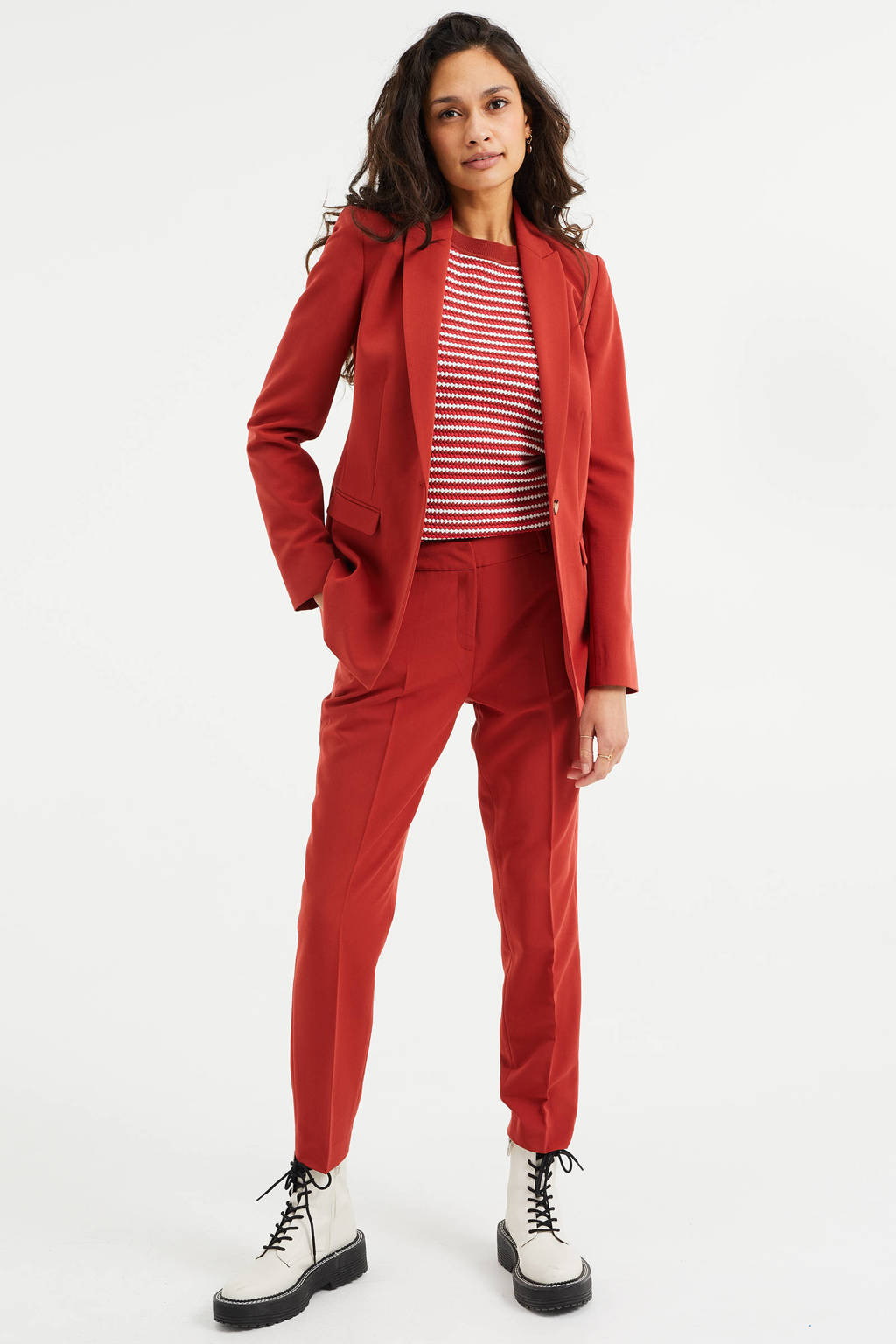 WE Fashion blazer rood, Rood