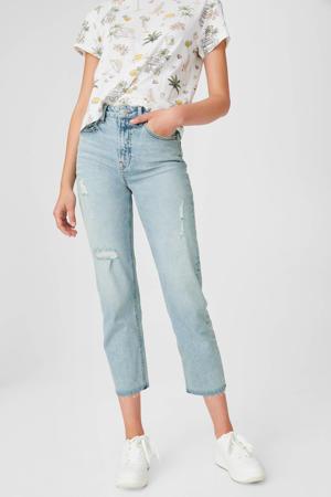 high waist slim fit jeans lichtblauw