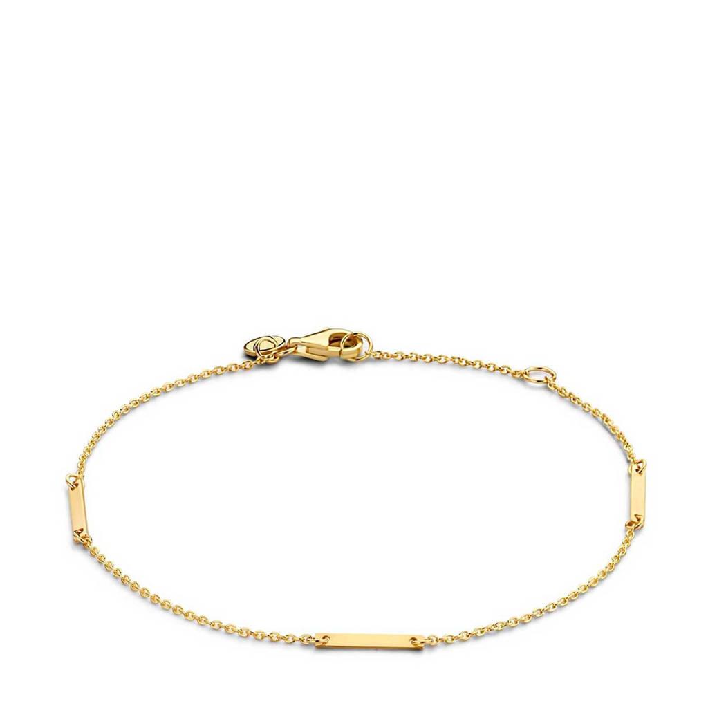 Isabel Bernard 14 karaat gouden gouden armband - IB320028, Goudkleurig