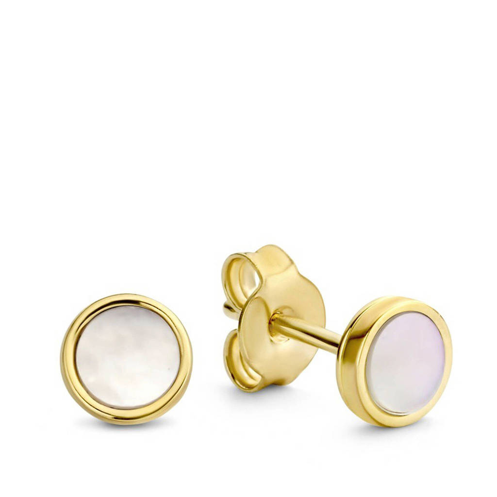 Isabel Bernard 14 karaat gouden oorbellen - IB360038, Goudkleurig