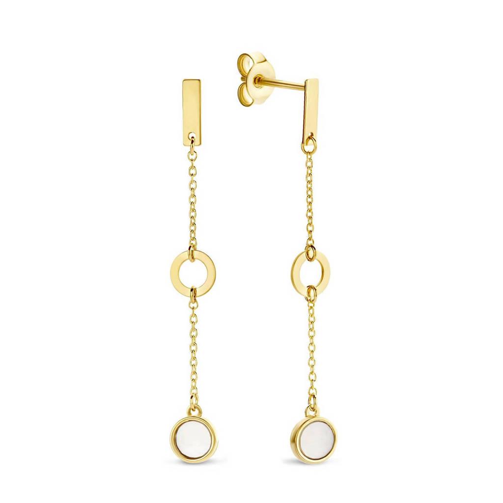 Isabel Bernard 14 karaat gouden oorbellen - IB360039, Goudkleurig