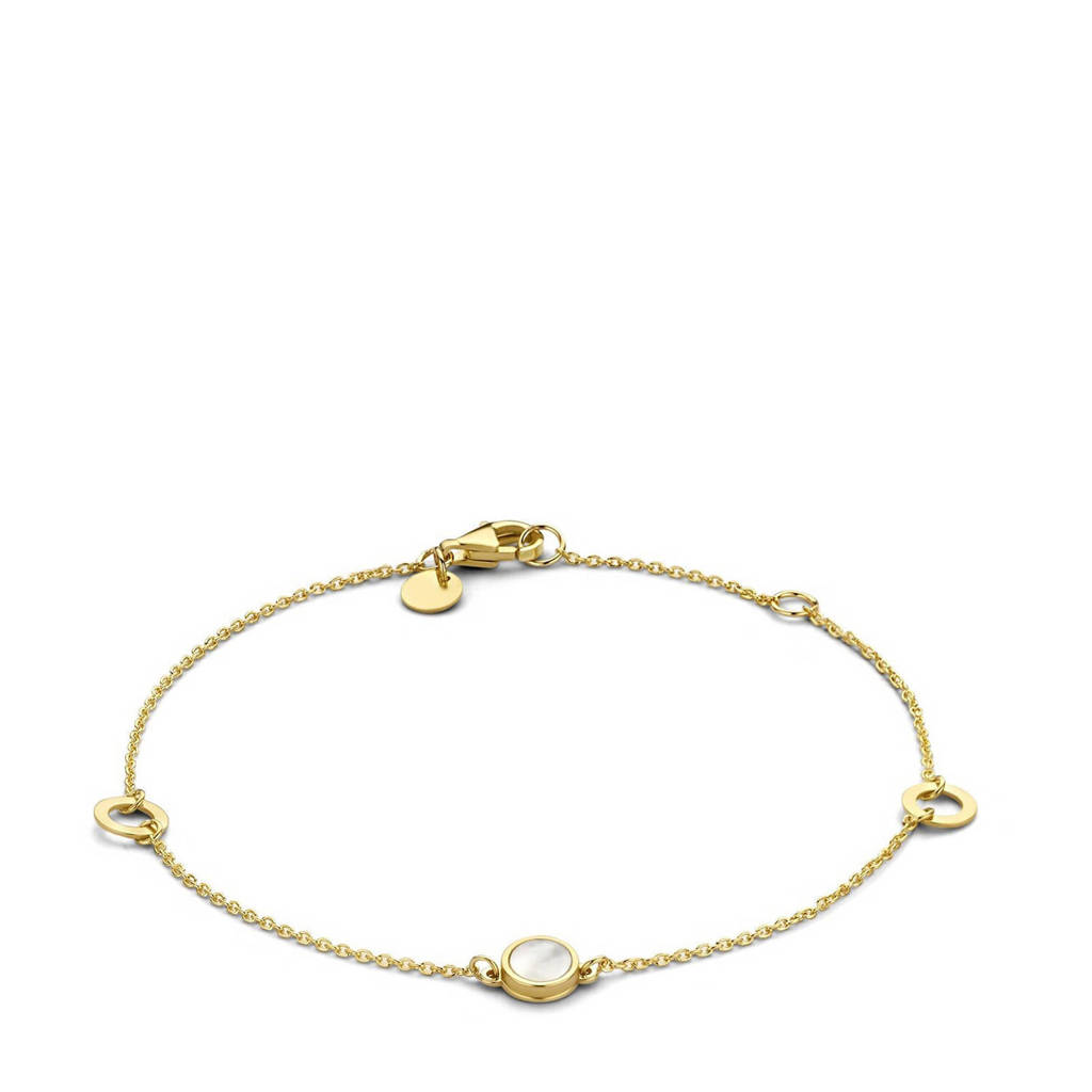 Isabel Bernard 14 karaat gouden gouden armband - IB320022, Goudkleurig