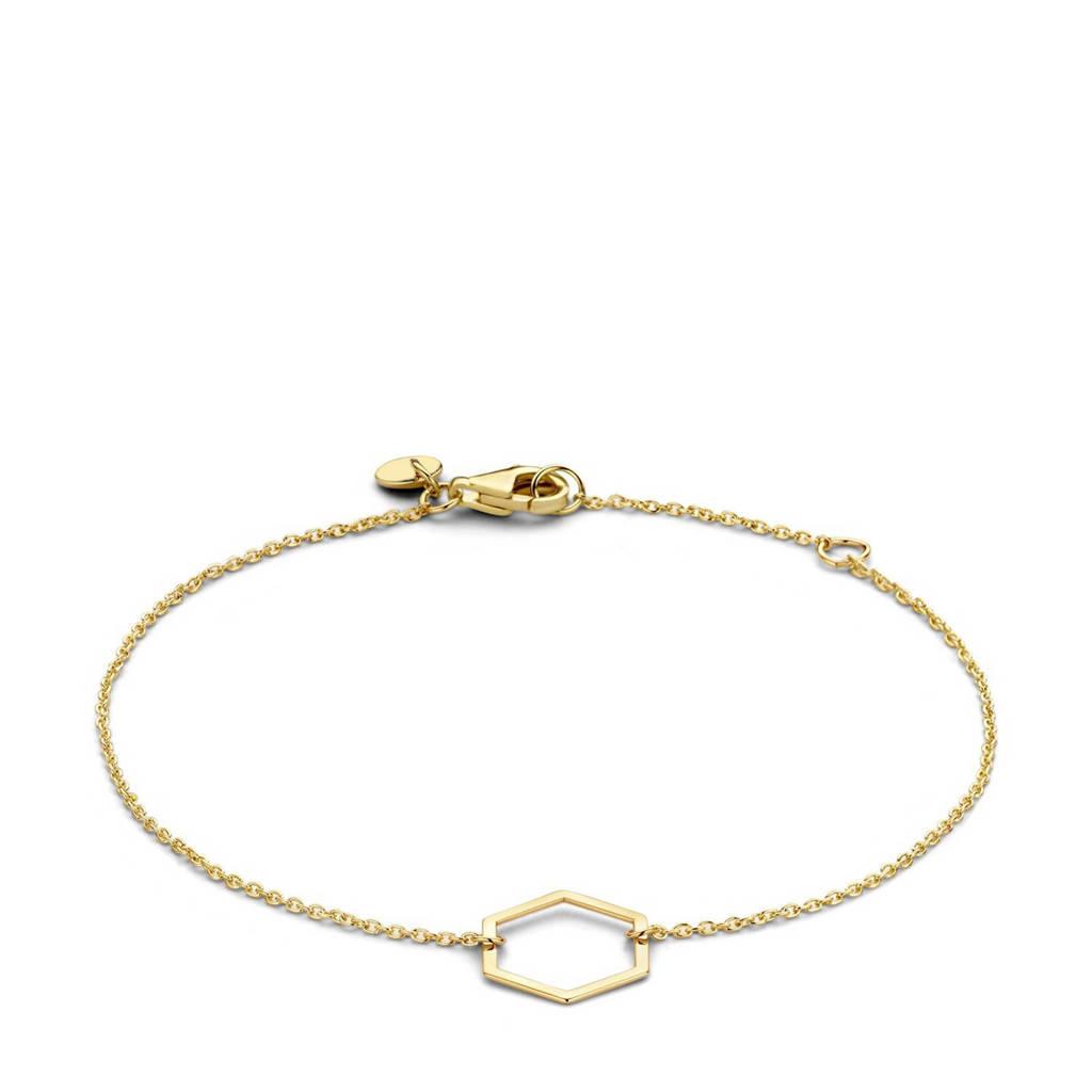 Isabel Bernard 14 karaat gouden gouden armband - IB320024, Goud