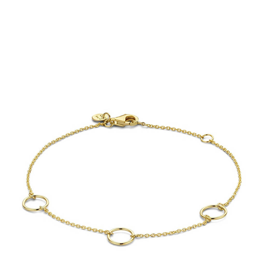 Isabel Bernard 14 karaat gouden gouden armband - IB320026, Goudkleurig
