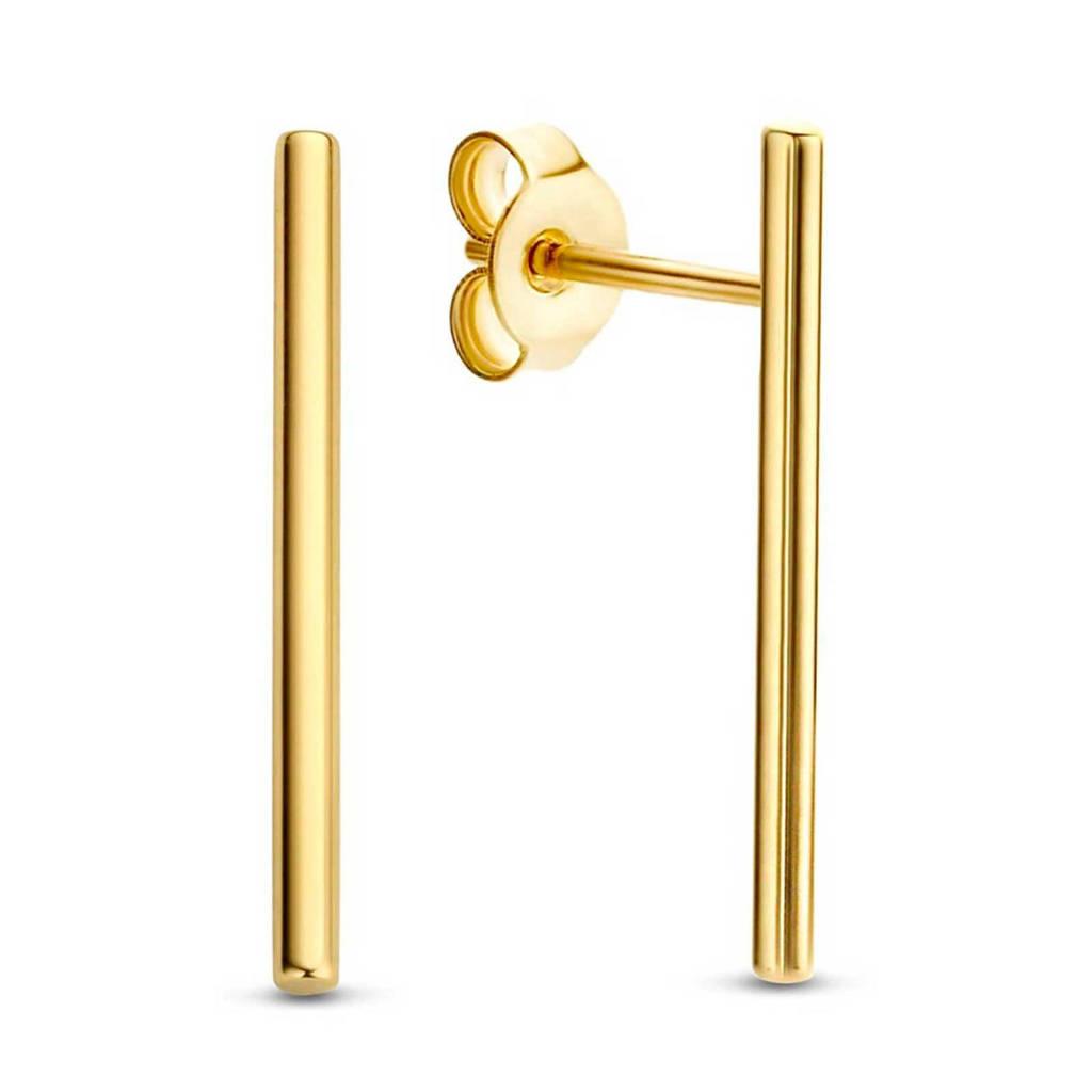Isabel Bernard 14 karaat gouden oorbellen - IB360040, Goudkleurig