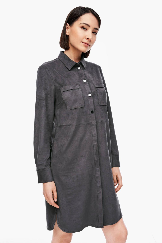s.Oliver BLACK LABEL jurk antraciet, Antraciet