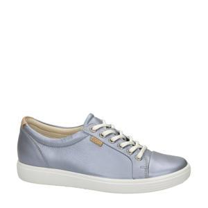 Soft 7 comfort leren veterschoenen metallic grijs
