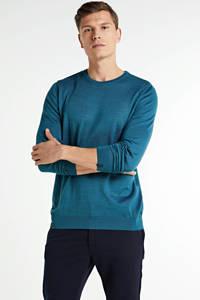 Vanguard fijngebreide trui met wol blauw, Blauw