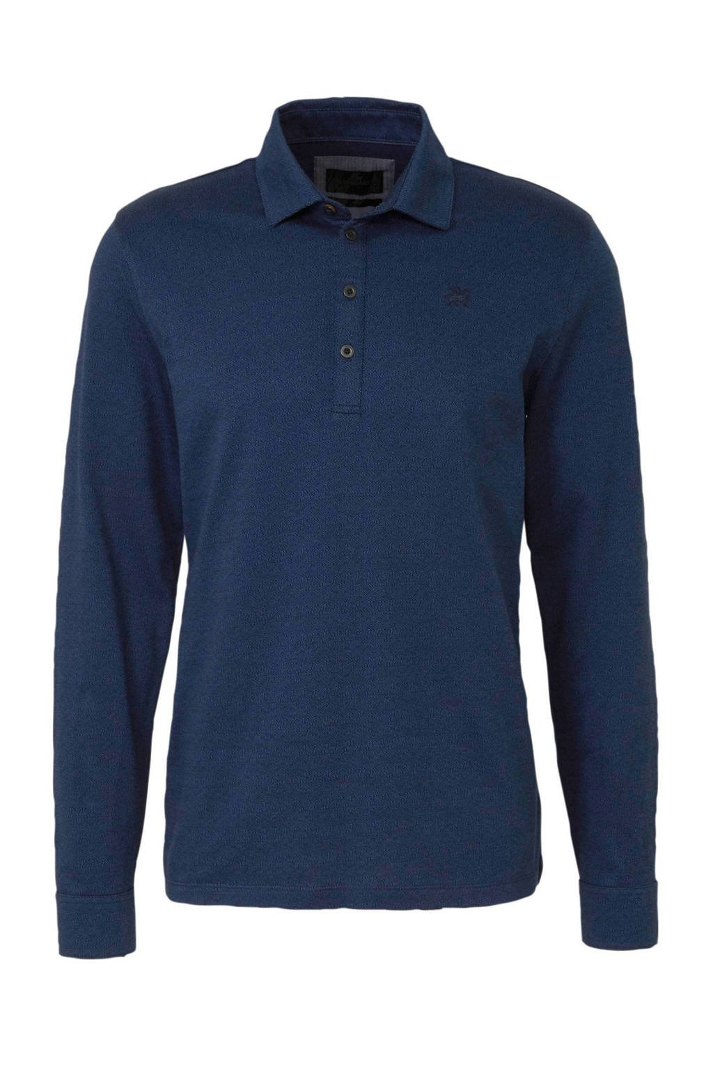 Vanguard regular fit polo donkerblauw, Donkerblauw