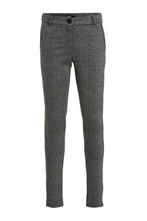 slim fit pantalon grijs/zwart